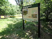 NWA Democrat-Gazette/FLIP PUTTHOFF<br /> A kiosk at the trailhead has a map and information about the McIlroy Madison County Wildlife Management Area.