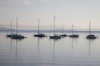 Boats in Broddick in the Isle of Arran, Scotland