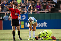 Seattle, WA - Sunday, May 21, 2017: Ashlyn Harris during a regular season National Women's Soccer League (NWSL) match between the Seattle Reign FC and the Orlando Pride at Memorial Stadium.