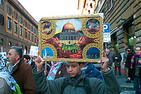 Roma 17 Gennaio 2009.Manifestazione  Contro l'attacco di Israele alla striscia di Gaza..Demonstration against the attack of Israel to the Gaza Strip..