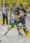 14 February 2015: University of Vermont Catamount Forward Amanda Pelkey, a Senior from Montpelier, VT, in first period action against the University of New Hampshire Wildcats at Gutterson Fieldhouse in Burlington, Vermont. The Lady Catamounts rallied from a 3-1 deficit to earn a 3-3 tie in the final home game of their NCAA Hockey East season. Mandatory Credit: Ed Wolfstein Photo *** RAW (NEF) Image File Available ***