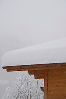House in snowstorm, Gimmelwald, Switzerland