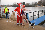 CHRISTMAS DAY TRADITION SERPENTINE LIDO SWIMMING CLUB HYDE PARK LONDON ENGLAND
