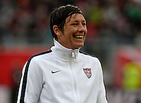 Offenbach, Germany, Friday, April 05 2013: Womans, Germany vs. USA, in the Stadium in Offenbach,  Abby Wambach (USA)...