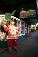 Hawaiian Santa in downtown Pa'ia town, Maui.