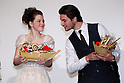 (L to R) Georgie Henley, Ben Barnes, ..Feb 13, 2011: ..&quot;The Chronicles of Narnia: The Voyage of the Dawn Treader&quot; Japan premiere. ..at Tokyo, Japan. ..(Photo by AFLO) [1045]
