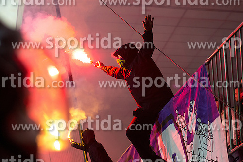 Fans of NK Maribor during football match between NK Maribor, SLO  and FC Schalke 04, GER in Group G of Group Stage of UEFA Champions League 2014/15, on December 9, 2014 in Stadium Ljudski vrt, Maribor, Slovenia. Photo by Matic Klansek Velej / Sportida