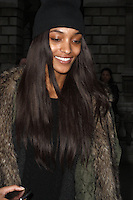 Jourdan Dunn spotted arriving at Somerset House, London on 15 February for the PPQ event which was part of London Fashion Week LFW  Autumn Winter 2013 Show. Paparazzi Photos