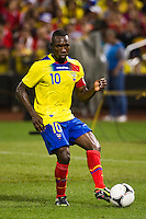 Walter Ayovi (10) of Ecuador. Ecuador defeated Chile 3-0 during an international friendly at Citi Field in Flushing, NY, on August 15, 2012.