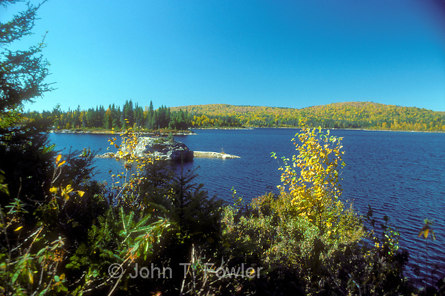 Wilderness trout lake, Laurentian Mountains, Quebec, Canada
