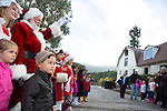 Children gather around Santa at the Annual Holiday Barn Lighting at Westwind Barn in Los Altos Hills Dec. 2.