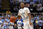 05 January 2015: North Carolina's Nate Britt. The University of North Carolina Tar Heels played the University of Notre Dame Fighting Irish in an NCAA Division I Men's basketball game at the Dean E. Smith Center in Chapel Hill, North Carolina. Notre Dame won the game 71-70.