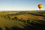 Vista Balloons tour over Eola Hills  vineyards &amp; hop fields, Willamette Valley, Oregon