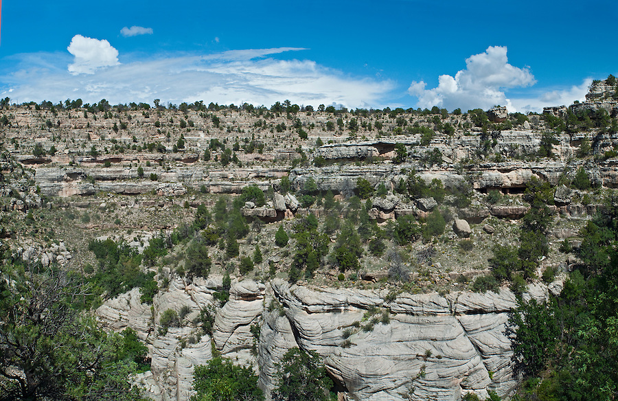 Walnut Canyon National Monument, Sinagua Native ruins, outside Flagstaff, Arizona, 1100-1225 AD