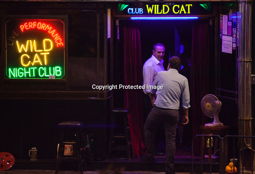 A general view of a girlie bar near the New Makati Club, where British ex-banker Rurik Jutting's second alleged murder victim was last seen alive in October 2014<br /> Wan Chai, Hong Kong, China, 26 October 2016.