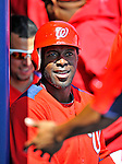 2 March 2011: Washington Nationals outfielder Roger Bernadina returns to the dugout after scoring a run in Spring Training action against the Florida Marlins at Space Coast Stadium in Viera, Florida. The Nationals defeated the Marlins 8-4 in Grapefruit League action. Mandatory Credit: Ed Wolfstein Photo