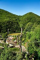 Impression of the commune Pomaretto in the Piedmont region (Italy, 21/06/2010)