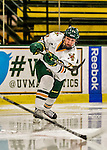 13 November 2015: University of Vermont Catamount Defender Daria O'Neill, a Freshman from Cochrane, Alberta, in action against the Providence College Friars at Gutterson Fieldhouse in Burlington, Vermont. The Lady Friars defeated the Lady Cats 4-1 in Hockey East play. Mandatory Credit: Ed Wolfstein Photo *** RAW (NEF) Image File Available ***