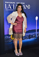 Actress Tilda Del Toro at the Los Angeles premiere for &quot;La La Land&quot; at the regency Village Theatre, Westwood. <br /> December 6, 2016<br /> Picture: Paul Smith/Featureflash/SilverHub 0208 004 5359/ 07711 972644 Editors@silverhubmedia.com