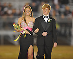 Freshman maid Abbey Pate is escorted by Landon Busby at Lafayette High vs. Lewisburg in Homecoming football action in Oxford, Miss. on Friday, September 30, 2011.