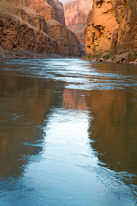 A quiet morning greeted me at the River Camp on mile 158.   Colorado River in Grand Canyon National Park.