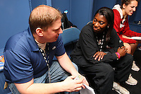 7 April 2008: Stanford Cardinal assistant coach Bobbie Kelsey during Stanford's press conference for the 2008 NCAA Division I Women's Basketball Final Four championship game at the St. Pete Times Forum Arena in Tampa Bay, FL.