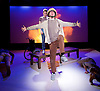 Pink Mist <br /> by Owen Sheers<br /> at Bush Theatre, London, Great Britain <br /> 26th January 2016 <br /> press photocall<br /> <br /> Peter Edwards as Taff <br /> <br /> <br /> <br /> Photograph by Elliott Franks <br /> Image licensed to Elliott Franks Photography Services