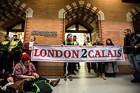 "16.01.2016 - ""St Pancras Emergency Die-in: Open the Border Now"""