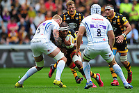 Nathan Hughes of Wasps takes on the Exeter Chiefs defence. Aviva Premiership match, between Wasps and Exeter Chiefs on September 4, 2016 at the Ricoh Arena in Coventry, England. Photo by: Patrick Khachfe / JMP