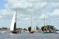 SKUTSJESILEN: GROU: SKS skûtsjesilen, Friese Sporten, 24-07-2010, Fryslân, skûtsjes Joure, Earnewâld, Leeuwarden, Lemmer, Sneek, ©foto Martin de Jong