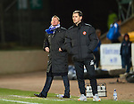 St Johnstone v Dundee United.....01.04.13      SPL.Steve Lomas shouts as Jackie McNamara looks on.Picture by Graeme Hart..Copyright Perthshire Picture Agency.Tel: 01738 623350  Mobile: 07990 594431