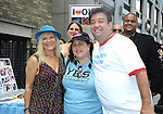 Ilene Kristen and fans Tammy and Shawn Brady attending The One Life to Live.43rd Anniversary Block Party outside the ABC Studio on July 15, 2011 in New York City.