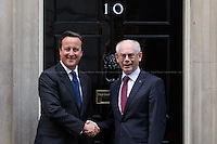 08.10.2013 - Herman Van Rompuy, President of the European Council at 10 Downing Street
