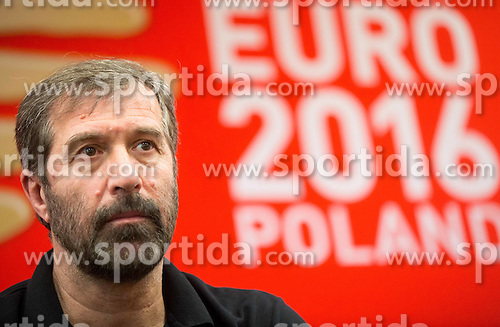 Veselin Vujovic, head coach of Slovenia during press conference of Team Slovenia on Day 1 of Men's EHF EURO 2016, on January 15, 2016 in Hotel Mercure Wrocław Centrum, Wroclaw Poland. Photo by Vid Ponikvar / Sportida
