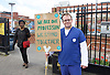 Junior Doctors Strike <br /> picket at St George's Hospital, Tooting, London, Great Britain <br /> 26th April 2016 <br /> <br /> Dr's outside St George's Hospital <br /> <br /> <br /> <br /> Photograph by Elliott Franks <br /> Image licensed to Elliott Franks Photography Services