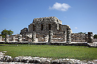 Temple of the Niches, Mayapan, old Maya capital, c. 1250, destroyed during civil war in 1441, Yucatan, Mexico Picture by Manuel Cohen