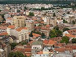 View of Belgrade from the top of the Politica newspaper building, Belgrade, Serbia<br /> <br /> View is toward the Danube River and looking toward the north east