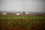BP sugarcane fields and facility for producing ethanol, near the city of Itumbiara, in Goias state, Brazil,  on Tuesday, Oct 15, 2013. Since the US recently passed a number of regulations and standards for cars and dropped tariffs that were in place for decades against Brazilian sugar, Brazilian ethanol is now flowing to the U.S., and the ethanol industry in the country is consolidating and ramping up for a new era.