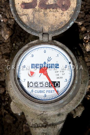 Residential Water Meter : Residential water meter utilities green stock media