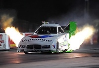 Jan. 18, 2012; Jupiter, FL, USA: NHRA funny car driver Jack Beckman during testing at the PRO Winter Warmup at Palm Beach International Raceway. Mandatory Credit: Mark J. Rebilas-