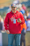 7 March 2013: Washington Nationals General Manager Mike Rizzo watches batting practice prior to a Spring Training game against the Houston Astros at Osceola County Stadium in Kissimmee, Florida. The Astros defeated the Nationals 4-2 in Grapefruit League play. Mandatory Credit: Ed Wolfstein Photo *** RAW (NEF) Image File Available ***
