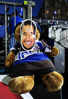 A general view of a pitchside teddy bear with a Leroy Houston mask. European Rugby Challenge Cup match, between Bath Rugby and Bristol Rugby on October 20, 2016 at the Recreation Ground in Bath, England. Photo by: Patrick Khachfe / Onside Images