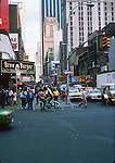 Busy  8th Avenue. Series of images from New York between 1975 -1977. New York,USA.