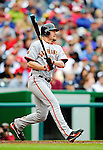 1 May 2011: San Francisco Giants first baseman Aubrey Huff in action against the Washington Nationals at Nationals Park in Washington, District of Columbia. The Nationals defeated the Giants 5-2. Mandatory Credit: Ed Wolfstein Photo
