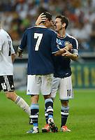 FUSSBALL Nationalmannschaft Freundschaftsspiel:  Deutschland - Argentinien             15.08.2012 JUBEL Argentinien; Angel di Maria (li) und Lionel Messi