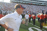 Ole Miss Coach Hugh Freeze vs. Central Arkansas at Vaught-Hemingway Stadium in Oxford, Miss. on Saturday, September 1, 2012. Ole Miss won 49-27.