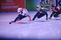 SHORT TRACK: ROTTERDAM: Ahoy, 12-03-2017, KPN ISU World Short Track Championships 2017, Ji Yoo Kim (KOR   #120), Arianna Fontana (ITA   #111), ©photo Martin de Jong