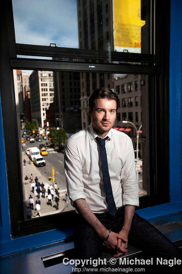 NEW YORK --  SEPTEMBER 16, 2011:  Pete Cashmore, CEO of Mashable, poses for a portrait in their new offices on September 16, 2011 in New York City.  (PHOTOGRAPH BY MICHAEL NAGLE)