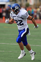 Universite de Montreal Carabins' Mathieu Labelle in CIS football action against the Rouge et Or at the universite Laval stadium in Quebec City, September 7, 2008. Laval won 17-6 before a crowd of 15,275.