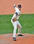14 September 2008: Cleveland Indians' pitcher Rich Rundles on the mound in relief against the Kansas City Royals at Progressive Field in Cleveland, Ohio. The Royal defeated the Indians 13-3 to take the 4-game series three games to one...Mandatory Photo Credit: Ed Wolfstein Photo